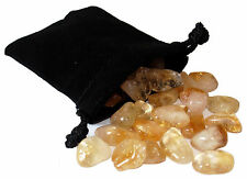 SHARING STONES - 2oz (50-55) CITRINE A Grade XS Tumbled Crystals w/Bag & Card