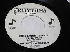 """Rhythm Rockers 7"""" 45 Some Broken Hearts Never Mend BLUEGRASS HEAR"""