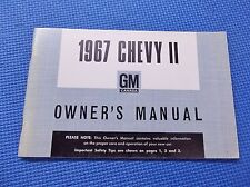 1967 CHEVY II NOVA English Canadian owners manual guide 67 NOS