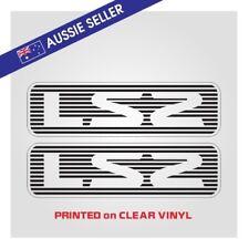 "ST Style "" LS2 "" Stickers PAIR - Suit Nissan Patrol GU Series - PRINT ON CLEAR"