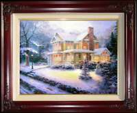Victorian Christmas III 20x24 S/N Framed Limited Thomas Kinkade Canvas Paintings