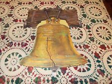 "Vtg Dennison Liberty Bell Diecut Cardboard Decoration 16"" Large 4Th Of July"