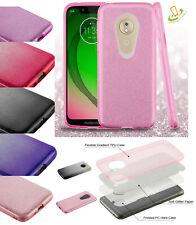 For ALCATEL Revvlry T-Mobile Bling Hybrid Glitter Rubber Silicone TPU Case Cover