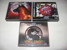 Bundle Mortal Kombat + NBA JAM + WOLFCHILD Sega MegaCD PAL Mega CD RARE