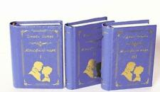 "Lot 3 Miniature 3"" Books Jane Austen Mansfield Park Deluxe Mini Souvenir Russia"