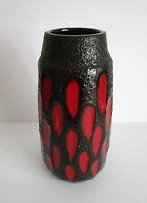 Große Keramikvase / Pottery Scheurich Fat Lava um 1960