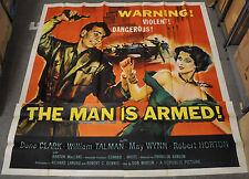 Die Mann Ist Armed 1956 Original 81X81 6-SHEET Film Poster Dane Clark Kann Wynn
