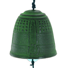 """Japanese 2""""D Furin Wind Chime Cast Iron Temple Bell/Made in Japan"""