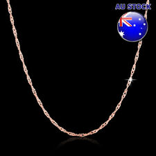 Wholesale Classic 18K Rose Gold Filled 1.5mm Singapore Twisted Chain Necklace