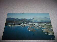 1971 MacMILLAN BLOEDEL PAPER MILL POWELL RIVER BC. CANADA VTG POSTCARD