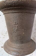 ANTIQUE Cast IRON MORTAR PESTLE Apothecary Medical Pharma Kitchen