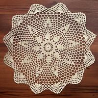 Vintage Cotton Hand Crochet Lace Doily Round Table Cloth Mats Doilies 35-40cm