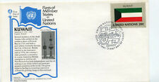 United Nations #359 Flag Series, Kuwait, Aristocrat Cachets,  FDC