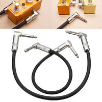 New Durable 30cm Right  Angle Guitar Effects Pedal Patch Cable Lead Cord Wire WL