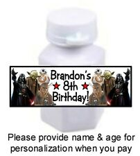 30 Star Wars Birthday Party Stickers For Mini Bubble Bottles Labels Favors