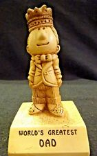 Vintage 1970 Paula World's Greatest Dad Statue Figurine Paper Weight W-136