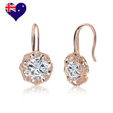 Eloise Decó Rose Gold Cubic Zirconia Drop Dangle Earrings-Wedding-Bridal Gift