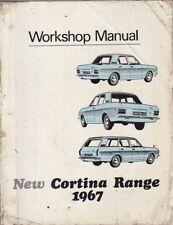 FORD Cortina MK2 1300 1500 1500 GT Saloon & Estate 1967 Officina Workshop Manuale