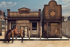 7x5Ft Backdrop Background Photography Props Vinyl Western Cowboy Racecourse