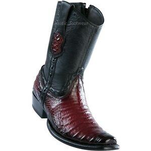 Men's Wild West Genuine Caiman Belly Western Boots With Zipper Dubai Toe