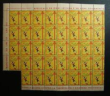 1952  XV° CAMPAGNA  ANTITUBERCOLARE - blocco di  39   valori