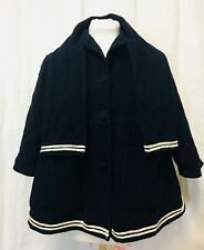Vintage 1980's United Colors Of Benetton Sailor Coat Girl Childs Size 12 Blue