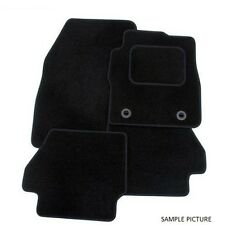 Tailored Black Velour Carpet Car Mats for Volvo S60 00-09 with Eyelet Fixings