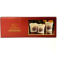 Lenox Christmas Winter Greetings Pierced Votives Set Of 3 Holiday Candle Holders
