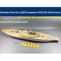 Wooden Deck for 1/200 Trumpeter 07015 RC USS Arizona Battleship Model