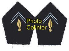 Transmissions - Ecussons de col d'Officier pour veste mle 1952/58