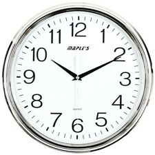 "Maple's Nautical Style Wall Clock 15 "" Plastic Clock Chrome Finish PW8191"