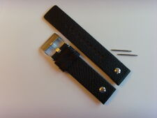 DIESEL Original Ersatzband Lederband Lederarmband DZ7307 Uhrband schwarz 22 mm