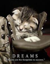 Cat Motivational Poster Art Print Kitten Toys House Vet Living the Dream MVP528