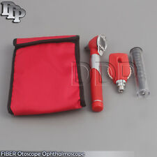 Otoscope Ophthalmoscope Opthalmoscope Examination LED Diagnostic ENT RED SET