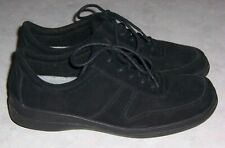 EASY SPIRIT Whit Womens Size 9M Black Suede Oxfords Lace Up Shoes