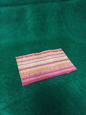 "Dollhouse Miniature 1:12 Scale Floor  Woven Rug 3""x 5"" Beautiful Colors"