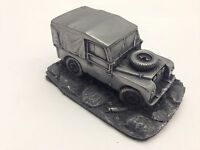 Land Rover Series 1 SWB canvas tilt closed 1.43 Scale Pewter Effect Model Car