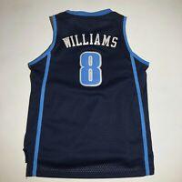 Utah Jazz Deron Williams #8 Stitched Jersey YOUTH L 14-16 +2 Length