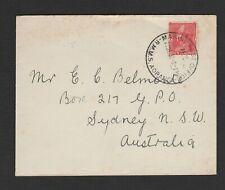 New Zealand 1932 cover Marine Post Office RMMS AORANGI to Australia