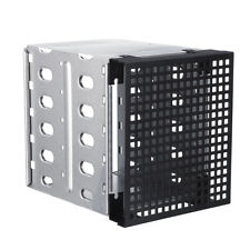 "5.25"" to 5x 3.5"" SATA SAS HDD Cage Rack Fit Hard Driver Tray Caddy + Fan Space"