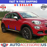 FIAT 500X 2015-2018 Chrome Side Body Molding Door Streamer Protector S. Steel