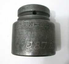 """Snap-On 2"""" Impact Socket IM643 6-Point 1"""" Drive Standard 2 in Made in USA"""