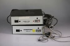 Comtek earwig transmitter system with 2 base stations Bsa-72 + 5 earbuds