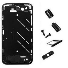 Black Housing Middle Frame with Crystal Stone for iPhone 4S USA FreeSHIP