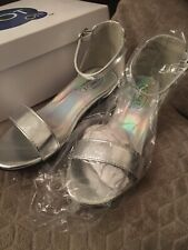 SPOT ON GIRLS SILVER STRAP SANDALS / SHOES size 11 JNR / BRAND NEW