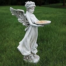 "18""H Angel Carrying Bird Feeder Outdoor Garden Statue Joseph's Studio # 600125"