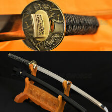 CLAY TEMPERED BLADE JAPANESE REAL DRAGON SWORD SAMURAI KATANA CAN BE CUTSOMIZED