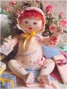 """Baby Doll Rag Doll (14"""" tall seated) Sewing Pattern S10138 (NOT FINISHED ITEM)"""