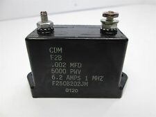 CDM F250B202JM .002 MFD, 5000 PWV, 6.2A 1MHz High-Voltage Mica Capacitor
