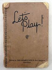 VINTAGE 1935 LET'S PLAY GAMES FOR HOME RECREATION BOOK BY THE FARMERS WIFE
